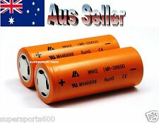 2 X MNKE IMR 26650 4000 mAh rechargeable Lithium ion batteries tested to 4350mAh