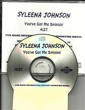 SYLEENA JOHNSON You've got Me Spinnin TST PRESS USA PROMO radio DJ CD single