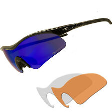 Daisan Sportbrille Radbrille Fahrradbrille mit drei Wechselscheiben