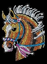 KSG Sequin Art Original Paillettenbild Pferd 1517