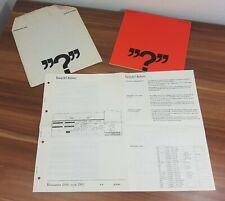 Bang & Olufsen Beomaster 2000 Original Dokumente Schaltbilder Hefte etc.