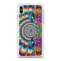 Marijuana Cannabis Weed Leaf Ravishing Trippy Rainbow Swirls Phone Case Cover