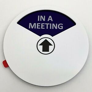 Work From Home Privacy Sign, In A Meeting/Please Knock/Do Not Disturb