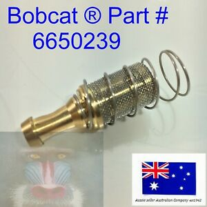 Tank Fuel Hose Line Pickup Screen Filter for Bobcat 6650239 One Way Valve