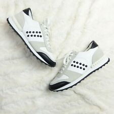 COACH Women's White Moonlight Rivets Sneakers Leather Suede Size 6.5 M