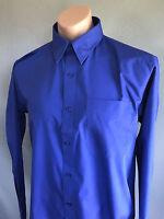 BNWT Mens Sz M Gear For Life Brand Cobalt Blue Long Sleeve Smart Business Shirt