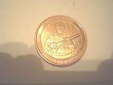 1 oz .999 Copper Round Men+Arms Safety In Numbers Back Reads-Protect The Future.