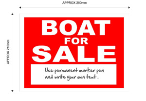 Boat For Sale Sign - with space for your own text.
