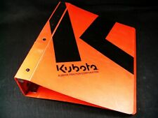 Kubota Empty Binder Only for Workshop Service Repair Operation Parts Manual