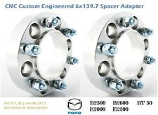 4WD Wheel Spacer Adapters 25 mm 6x139.7, Ford Ranger 93.1 mm Hub Centric 2 PCS