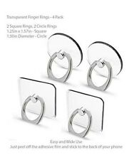 4 Pack Cell Phone Ring Holder, Transparent Finger Kickstand 360°Rotation...