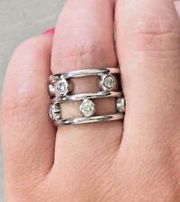 Estate Ladies Platinum Diamond Right Hand Cocktail Fashion Ring