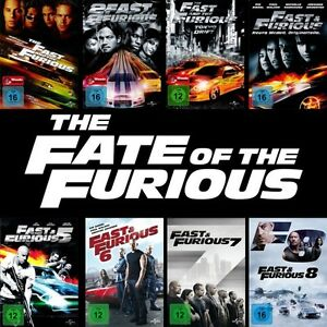 The Fast and the Furious 1 - 8 Collection (Paul Walker)                DVD   500