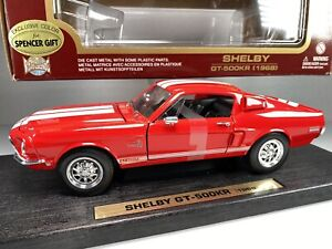 Yat Ming Road Legends 1968 Shelby GT-500KR 1:18  Red / White Diecast Car