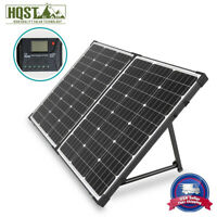 HQST 100W 12V Mono Solar Panel Suitcase w/ Controller Portable Battery Charger