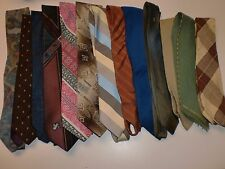 LOT OF 13 MEN'S NECK TIES Mostly Polyester Assortment