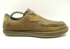 Merrell Brown Leather Lace Up Moc Toe Loafers Shoes Men's 9