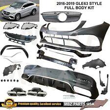 Gle63 Coupe full body kit bumper muffler tips diffuser 2016 2017 2018 2019 Gle