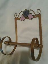 Gold Scroll Purple Rose Toilet Paper holder for your Croscill Chambord bathroom