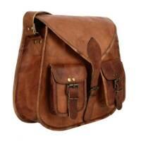 Womens Satchel Vintage Brown Leather Purse Hobo Messenger Crossbody Handmade Bag
