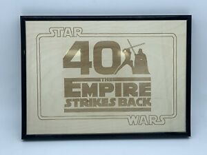 Star Wars The Empire Strikes Back 40th Anniversary Engraving Wooden A4 Framed