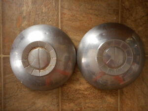 Kaiser Vintage Hubcaps 1951 1952 AS IS Model Lot of 2 Used Abused Salvage dented