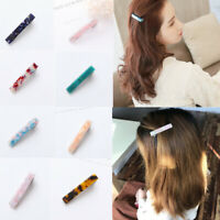 Fashion Women Acid Acrylic Hairpin Hair Clip Hair Pin Long Barrettes Accessories