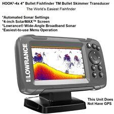 "Lowrance SolarMAX™ HOOK²-4x 4"" Bullet Fishfinder & Wide-Angle Broadband sonar"