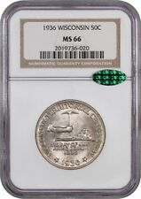 1936 Wisconsin 50c NGC/CAC MS66 - Silver Classic Commemorative