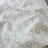 Pottery Barn Baby Kids Organic Cotton Gray Yellow Crib Fitted Sheet