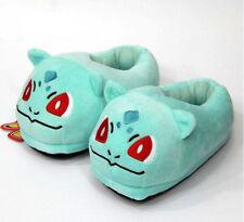 Pokemon Bulbasaur Soft Plush Heel Cover Slipper Indoor Cosplay Shoes for Adult