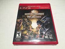 Mortal Kombat vs DC Universe (Playstation PS3) Greatest HIts LN Perfect Mint