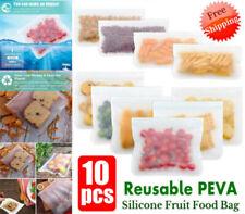 Réutilisable Silicone Fruit Nourriture Sac étanche Ziplock congélateur cuisine s...
