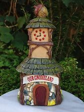 Miniature Dollhouse Fairy Garden Accessories ~ Woodland Gnome Clock Tower House