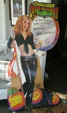 Rare 1997 Coors Light Beer Queen of Halloween Jenny McCarthy Standee Display