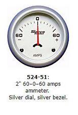 "2"" SPECO SPORTS AMPS AMMETER -60 0 +60 GAUGE P/N 524-51"
