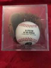 Cal Ripken limited edition photo ball by the numbers In Mini Glove With Stats