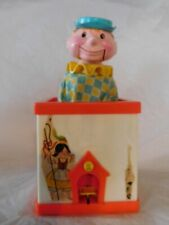 old vintage Jack in the box musical wind up toy classic Jack-In-The-Box works