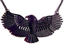 BLACK BIRD BIB NECKLACE eagle raven crow thunderbird war Babd Morrigan hawk A1