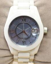 Ceramic & Steel Blue Mother of Pearl Face White Bracelet Ladies Quartz Watch