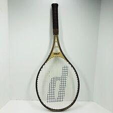 "Vintage 1982 Prince Gold Spirit Aluminum Tennis Racket - 4 1/4"" - 80 lb - 27 in"