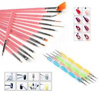 20pcs stylos Pinceaux à Ongle pour Déco Gel UV Vernis Manucure Nail Art Pédicure