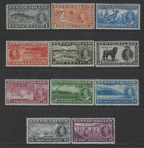NEWFOUNDLAND - #233-#243 - KING GEORGE VI CORONATION ISSUE MINT SET MLH MH