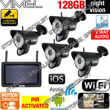 Wireless House Security Cameras System DIY Alarm Surveillance IP CCTV WIFI phone