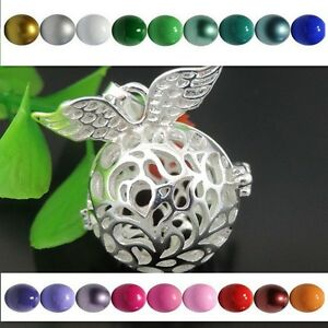 Harmony Ball Angel Caller Mexican Bola Bell Wings Locket Pendant Necklace