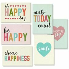 36-Pack All Occasion Encouragement Greeting Cards Box Set Notecards Pastel Color