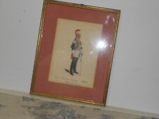 Vtg. Italian Military Museum 1868 Squadrone Corazzieri Ufficial Framed Print