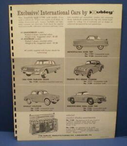Hubley 1960 Promo friction B&W single sided dealer sales flyer L@@K!