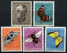 Switzerland 1950 SG#J132-136 Pro Juventute Insects MNH Set #D45689
