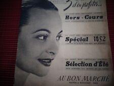 CATALOGUE AU BON MARCHE  CAMPING , PLAGE , VETEMENT , ANNEE 1952   ( ref 37